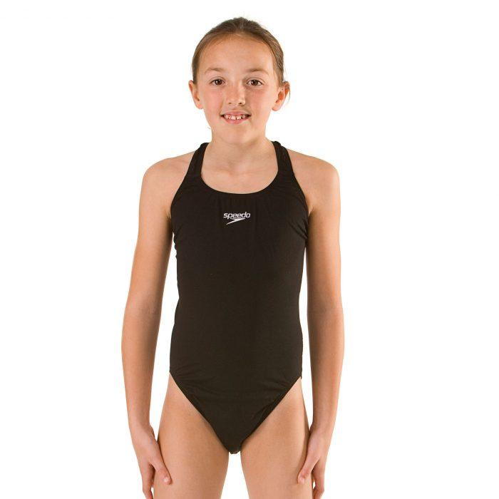 Speedo Endurance +Medalist Girls Black