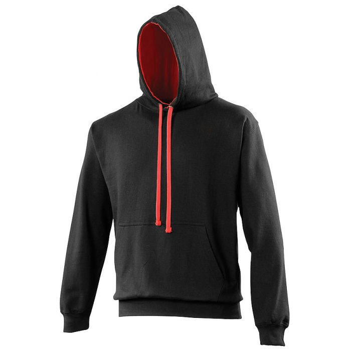 Swimteam Varsity Contrast Hooded Sweatshirt JetBlack_HeatherGreySwimteam Varsity Contrast Hooded Sweatshirt JetBlack_FireRed