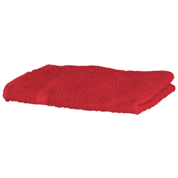 Luxury Swimmers Cotton Towel Red