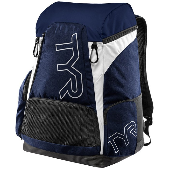 Alliance 45L Navy White Backpack front
