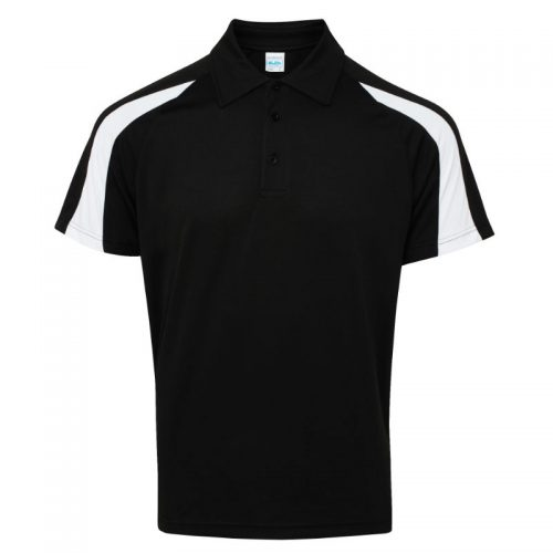 Poolside Contrast Polo Black/White