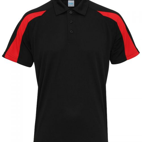 Poolside Contrast Polo Black/Red