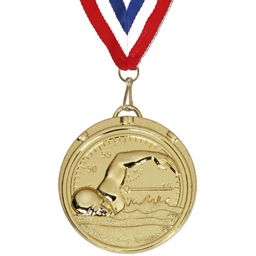 Gold Stopwatch Swimmers Medal