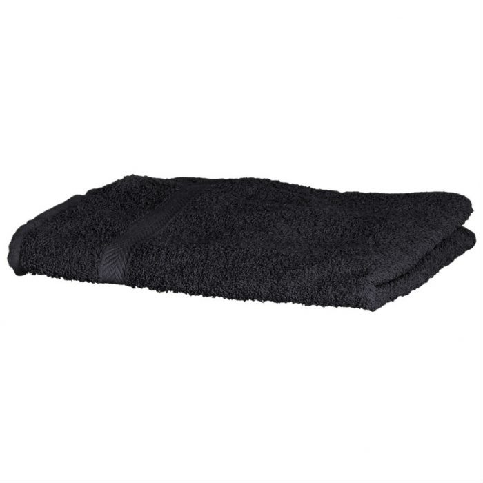 Luxury Swimmers Cotton Towel Black