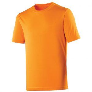 Poolside Polyester Micro Eyelet T Orange