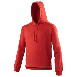 Swimteam College Hooded Sweatshirt Fire red