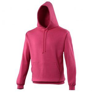 Swimteam College Hooded Sweatshirt Hot Pink