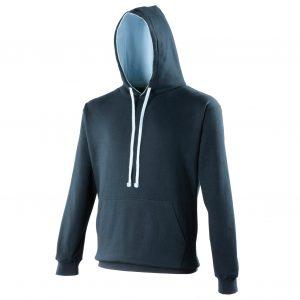 Swimteam Varsity Contrast Hooded Sweatshirt FrenchNavy_SkyBlue