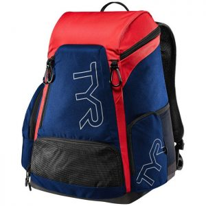 Alliance 45L Navy Red Backpack front