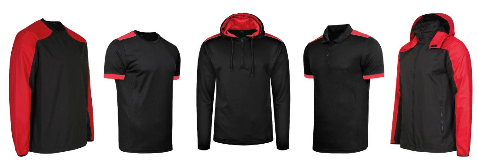 Colour coordinated team kit