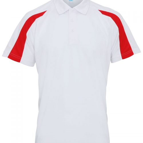 Poolside Contrast Polo White/Red