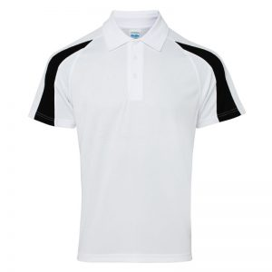 Poolside Contrast Polo White/Black