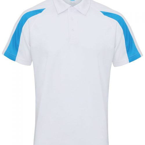 Poolside Contrast Polo White/Sapphire