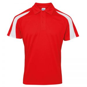 Poolside Contrast Polo Red/White