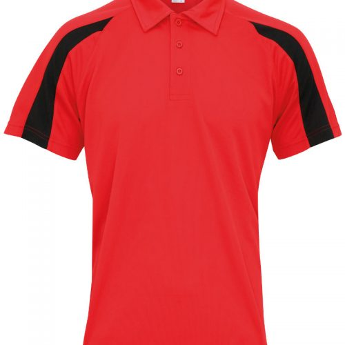 Poolside Contrast Polo Red/Black