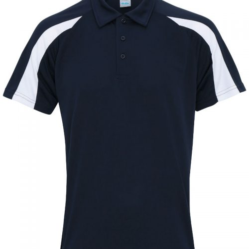 Poolside Contrast Polo Navy/White