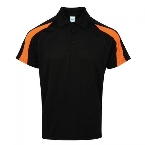 Poolside Contrast Polo Black/Orange
