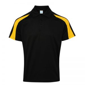 Poolside Contrast Polo Black/Yellow