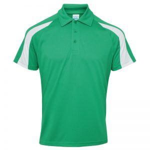 Poolside Contrast Polo Kelly Green/White