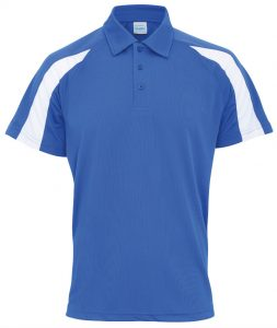 Poolside Contrast Polo Royal Blue/White