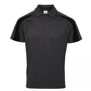 Poolside Contrast Polo Charcoal/Black