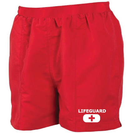 womens lifeguard shorts red