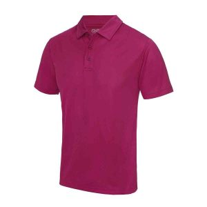 Poolside Polo Shirt Hot Pink